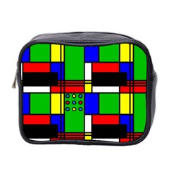 Mondrian Mini Travel Toiletry Bag (two Sides) by Siebenhuehner