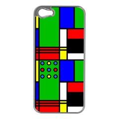 Mondrian Apple Iphone 5 Case (silver) by Siebenhuehner