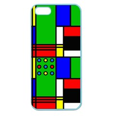 Mondrian Apple Seamless Iphone 5 Case (color) by Siebenhuehner