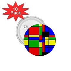 Mondrian 1 75  Button (10 Pack) by Siebenhuehner