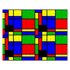 Mondrian Jigsaw Puzzle (rectangle) by Siebenhuehner