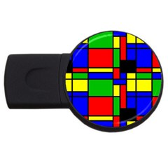 Mondrian 4gb Usb Flash Drive (round) by Siebenhuehner