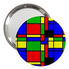 Mondrian 3  Handbag Mirror by Siebenhuehner