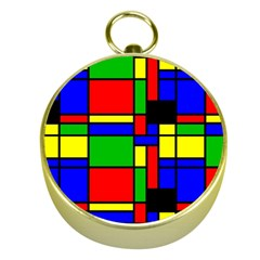 Mondrian Gold Compass