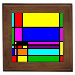 Mondrian Framed Ceramic Tile by Siebenhuehner