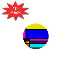 Mondrian 1  Mini Button (10 Pack) by Siebenhuehner