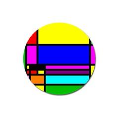 Mondrian Magnet 3  (round) by Siebenhuehner