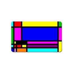 Mondrian Magnet (name Card) by Siebenhuehner