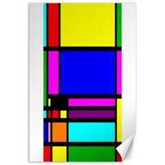 Mondrian Canvas 24  x 36  (Unframed)