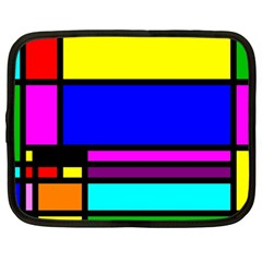 Mondrian Netbook Sleeve (large) by Siebenhuehner