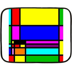 Mondrian Mini Fleece Blanket (two Sided) by Siebenhuehner