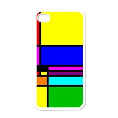 Mondrian Apple Iphone 4 Case (white) by Siebenhuehner