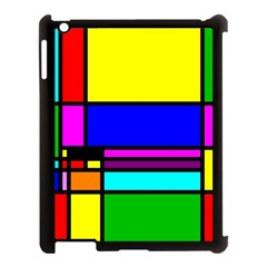 Mondrian Apple Ipad 3/4 Case (black) by Siebenhuehner