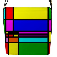 Mondrian Flap Closure Messenger Bag (small) by Siebenhuehner