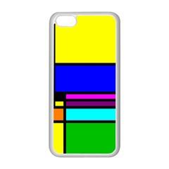 Mondrian Apple Iphone 5c Seamless Case (white) by Siebenhuehner