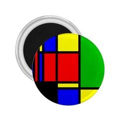 Mondrian 2 25  Button Magnet by Siebenhuehner