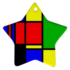 Mondrian Star Ornament by Siebenhuehner