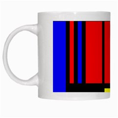 Mondrian White Coffee Mug by Siebenhuehner
