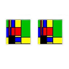 Mondrian Cufflinks (square) by Siebenhuehner