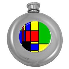 Mondrian Hip Flask (round) by Siebenhuehner