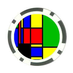 Mondrian Poker Chip by Siebenhuehner