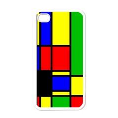 Mondrian Apple Iphone 4 Case (white) by Siebenhuehner