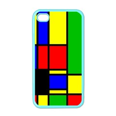 Mondrian Apple Iphone 4 Case (color) by Siebenhuehner
