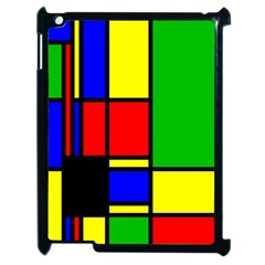 Mondrian Apple Ipad 2 Case (black) by Siebenhuehner