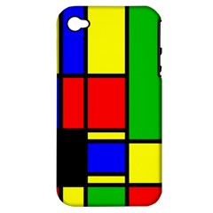 Mondrian Apple Iphone 4/4s Hardshell Case (pc+silicone) by Siebenhuehner