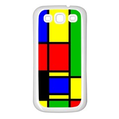 Mondrian Samsung Galaxy S3 Back Case (white) by Siebenhuehner