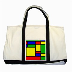 Mondrian Two Toned Tote Bag by Siebenhuehner