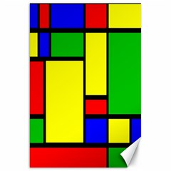 Mondrian Canvas 20  X 30  (unframed) by Siebenhuehner