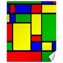 Mondrian Canvas 11  X 14  (unframed) by Siebenhuehner