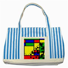 Moderne Blue Striped Tote Bag by Siebenhuehner
