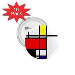Mondrian 1 75  Button (10 Pack) by Siebenhuehner
