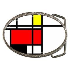 Mondrian Belt Buckle (oval) by Siebenhuehner