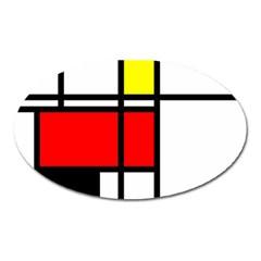 Mondrian Magnet (oval) by Siebenhuehner
