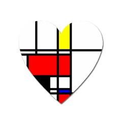 Mondrian Magnet (heart) by Siebenhuehner