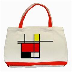Mondrian Classic Tote Bag (red) by Siebenhuehner