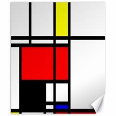 Mondrian Canvas 8  X 10  (unframed) by Siebenhuehner
