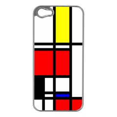 Mondrian Apple Iphone 5 Case (silver) by Siebenhuehner