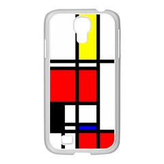 Mondrian Samsung Galaxy S4 I9500/ I9505 Case (white) by Siebenhuehner