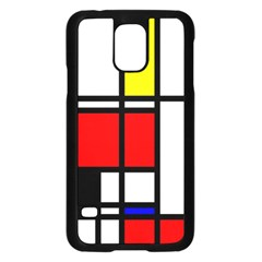 Mondrian Samsung Galaxy S5 Case (black) by Siebenhuehner