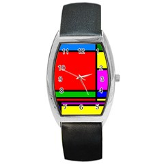 Mondrian Tonneau Leather Watch by Siebenhuehner
