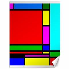 Mondrian Canvas 36  X 48  (unframed) by Siebenhuehner