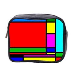 Mondrian Mini Travel Toiletry Bag (two Sides) by Siebenhuehner