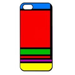Mondrian Apple Iphone 5 Seamless Case (black) by Siebenhuehner