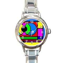 Mondrian Round Italian Charm Watch by Siebenhuehner