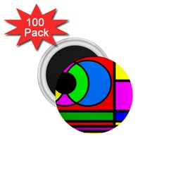 Mondrian 1 75  Button Magnet (100 Pack) by Siebenhuehner