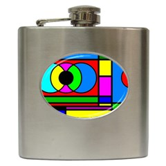 Mondrian Hip Flask by Siebenhuehner